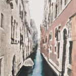 Venice Canal with Boat